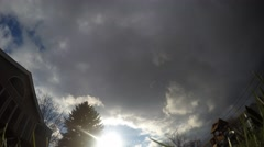 Time Lapse of Thundersnow happening as winter storm passes overhead Stock Footage