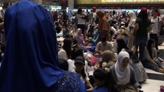 4k, Crowd of Muslims meeting for eat and celebrate of Eid Al-Fitr in Taipei-Dan Stock Footage