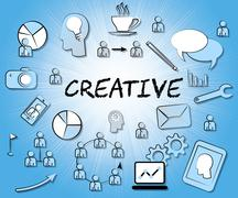 Creative Icons Shows Ideas Imagination And Concepts Stock Illustration