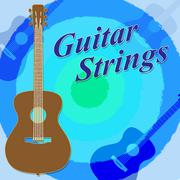 Guitar Strings Means Steel Wires And Guitars - stock illustration