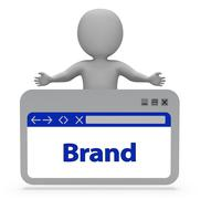 Brand Label Indicates Company Identity 3d Rendering - stock illustration