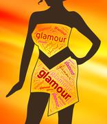 Glamour Clothes Represents Clothing Glamorous And Vogue Stock Illustration