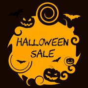 Halloween Sale Means Offer Reduction And Promotion Stock Illustration