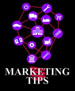 Marketing Tips Shows EMarketing Advice And Promotions - stock illustration