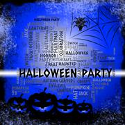 Halloween Party Means Parties Celebration And Fun Stock Illustration
