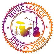 Music Search Means Searching Tracks And Soundtracks Stock Illustration