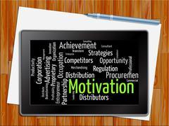 Motivation Word Shows Do It Now 3d Illustration Stock Illustration