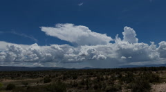 Storm cell over N AZ time lapse wide shot Stock Footage