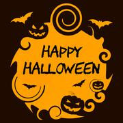 Happy Halloween Shows Trick Or Treat And Horror - stock illustration