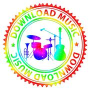 Download Music Indicates Songs Online And Downloading Stock Illustration