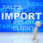 Import Word Represents Imported Cargo 3d Rendering Stock Illustration