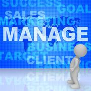 Manage Word Represents Innovation Manager 3d Rendering Stock Illustration