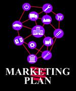 Marketing Plan Shows Emarketing Programme And System - stock illustration