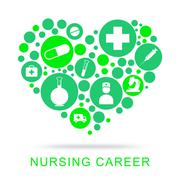Nursing Career Shows Job Search For Carers Stock Illustration