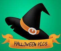 Halloween Pics Of Trick Or Treat 3d Illustration Stock Illustration