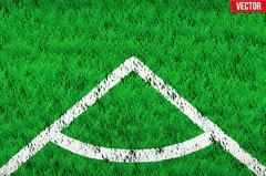 White angular lines on grass field Stock Illustration