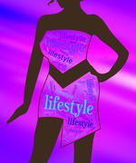 Lifestyle Lady Shows Life Choice And Healthy Living - stock illustration