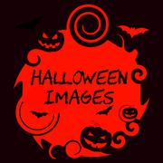 Halloween Images Means Trick Or Treat Pictures - stock illustration