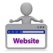 Website Webpage Means Browsing Internet 3d Rendering Piirros
