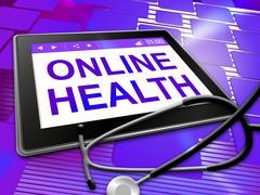 Online Health Shows Medical Wellbeing 3d Illustration Stock Illustration