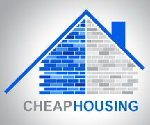 Cheap Housing Represents Low Cost Discounted Property Stock Illustration