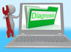 Diagnosis File Represents Online Maintenance 3d Rendering - stock illustration