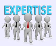 Expertise Businessmen Represents Master Skills 3d Rendering Stock Illustration