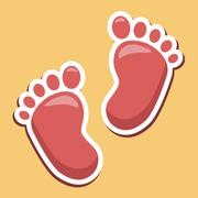 Baby Feet Indicates Infant Parenting And Newborns Stock Illustration