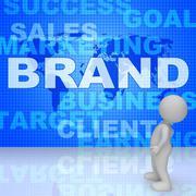 Brand Word Indicates Company Identity 3d Rendering Stock Illustration
