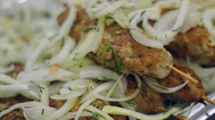 Lula Kebab meat patties Stock Footage