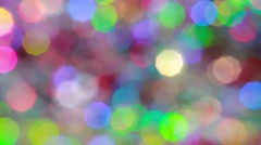 Grey multicolor blurred lights. Abstract Christmas background Stock Footage