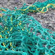 Fishing nets on a beach Stock Photos