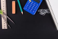 Calculator and Office supplies Stock Photos