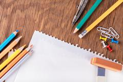 Set of stationery Stock Photos