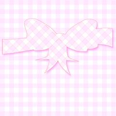 Pink Gingham Mothers Day Card Stock Illustration