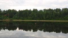 Beautiful banks of the river Volga Stock Footage