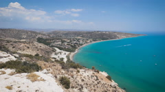 View from top of a hill, Cyprus Stock Footage
