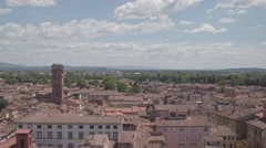 View over Lucca in Italy Stock Footage