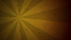 Brown and yellow sunburst retro style Stock Footage