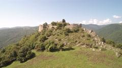 Old ruined castle, cetatea liteni Stock Footage
