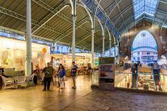 Mercado Colon in Valencia Stock Photos