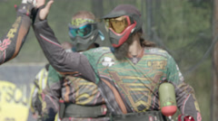 Paintballplayers have won the Game Stock Footage