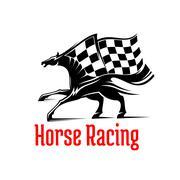 Galloping racehorse symbol for equine sport design Stock Illustration