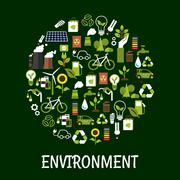 Environmental ecology friendly poster Stock Illustration