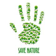 Environmental ecology protection poster Stock Illustration