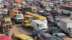 Nigeria traffic Stock Footage