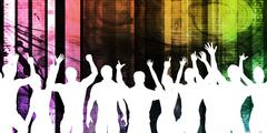 Young People Dancing Stock Illustration