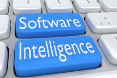 Software Intelligence concept Stock Illustration