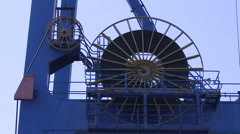 Gantry crane mechanisms at the Port of Kaohsiung the largest harbor in Taiwan Stock Footage