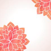 Watercolor red flower patterns. Vector background Stock Illustration